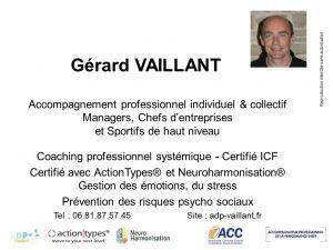 Gérard Vaillant coach professionel certifié